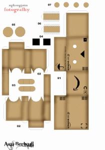 Cara Membuat Boneka Danbo, Danboard , boneka Kotak 100%Seru